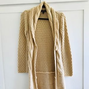 Bebe 3/4 body length Button Up Sweater Coat